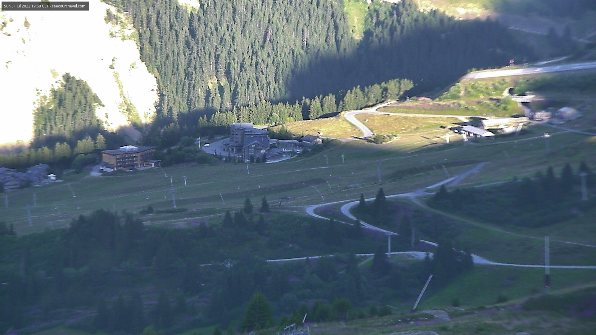 Webcam Courchevel, vue vers la Croisette